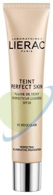 Lierac Teint Perfect Skin - Fondotinta Fluido 01 Beige Claire, 30ml