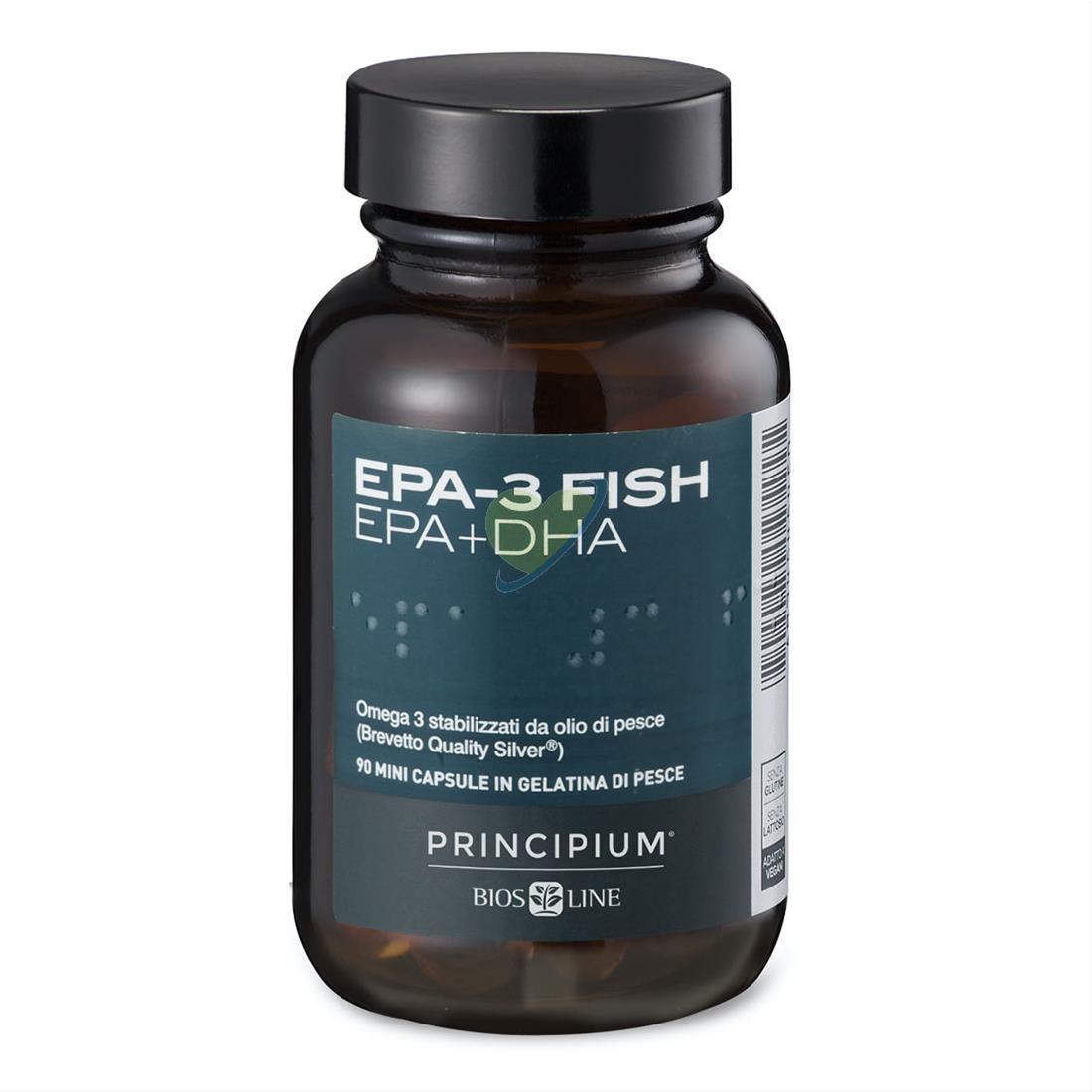 Bios Line Principium EPA 3 Fish EPA + DHA Integratore Alimentare 90 Mini Capsule