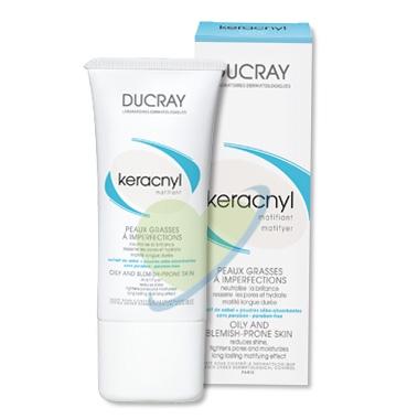 Ducray Linea Pelle Mista e Grassa Keracnyl Crema Idratante Opacizzante 30 ml
