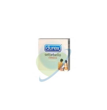 Durex Linea Classica Settebello Cassico Condom Confezione con 3 Profilattici