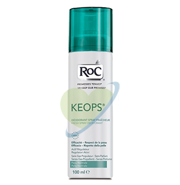 RoC Linea Deodoranti Keops Deodorante Spray Fresco Vaporizzatore No Gas 100 ml