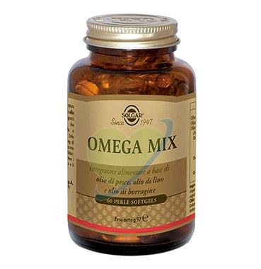 Solgar Linea Colesterolo Trigliceridi Omega Mix Integratore Alimentare 60 Perle