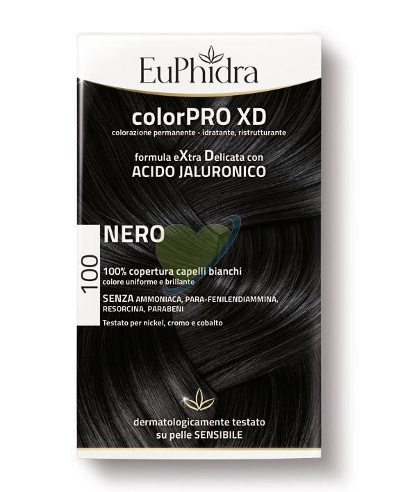 EuPhidra Linea ColorPRO XD Colorazione Extra-Delixata Senza Ammoniaca 100 Nero