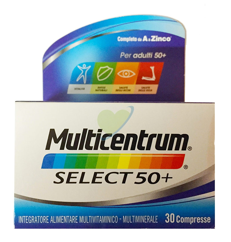Multicentrum Linea Vitamine Minerali Select 50+ Integratore 50+Anni 30 Compresse