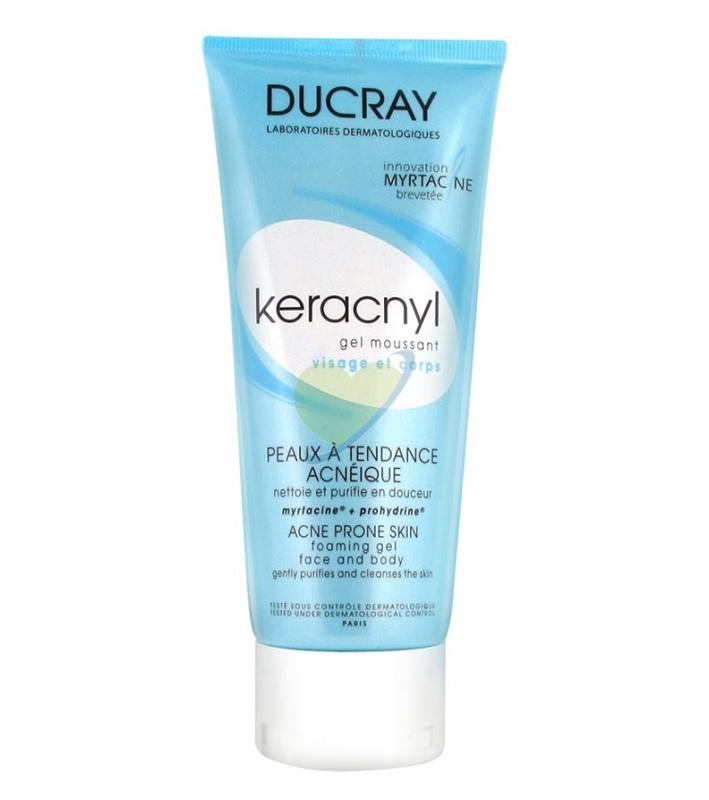 Ducray Linea Pelle Mista e Grassa Keracnyl Gel Detergente Purificante 200 ml