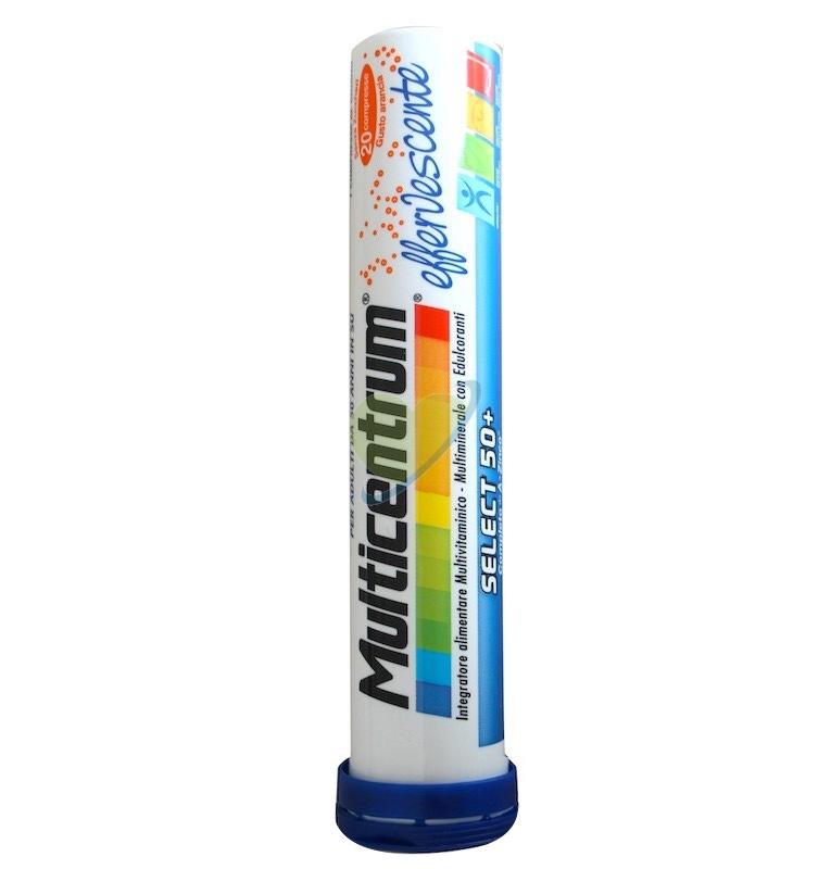 Multicentrum Linea Vitamine Select 50+ Integratore 20 Compresse Effervescenti