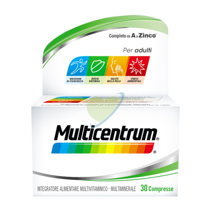Multicentrum Linea Vitamine Minerali Adulti Integratore Alimentare 30 Compresse