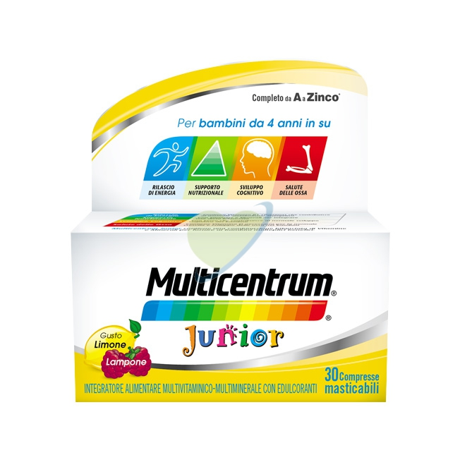 Multicentrum Linea Vitamine Minerali Junior Integratore 30 Compresse Masticabili