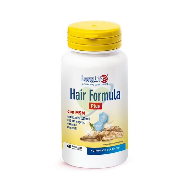 Long Life Linea Capelli Sani Hair Formula Plus Integratore Alimentare 60 Tavolet