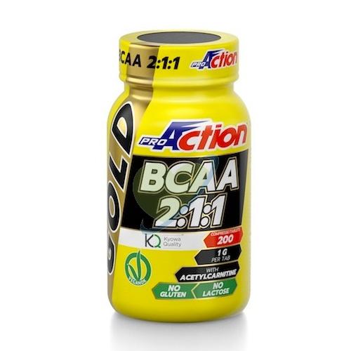 ProAction Linea Amminoacidi BCAA Gold Integratore Alimentare 200 Compresse