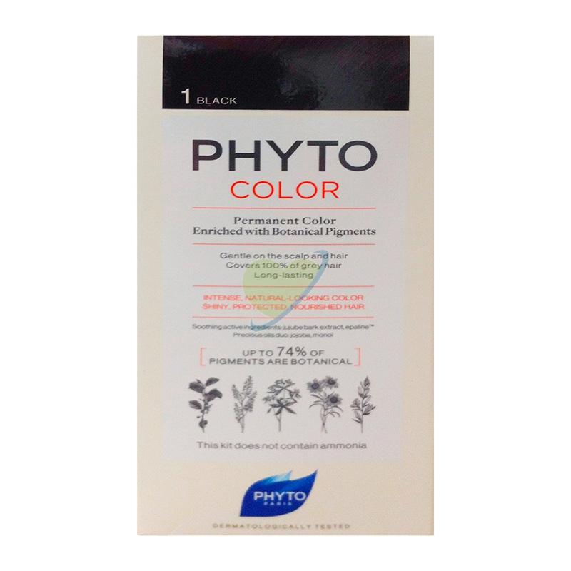 Phyto Linea Phytocolor Colorazione Permanente Delicata 1 Nero Intenso