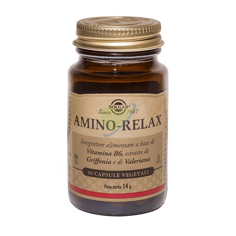 Solgar Linea Benessere Energia Amino-Relax Integratore Alimentare 30 Capsule