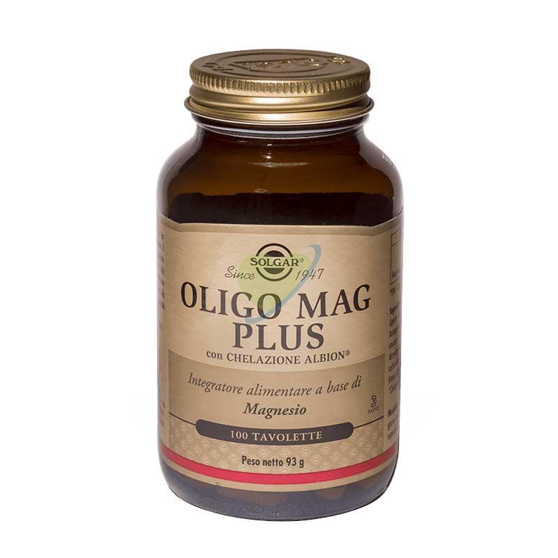 Solgar Linea Vitamine e Minerali Oligo Mag Plus Integratore 100 Tavolette