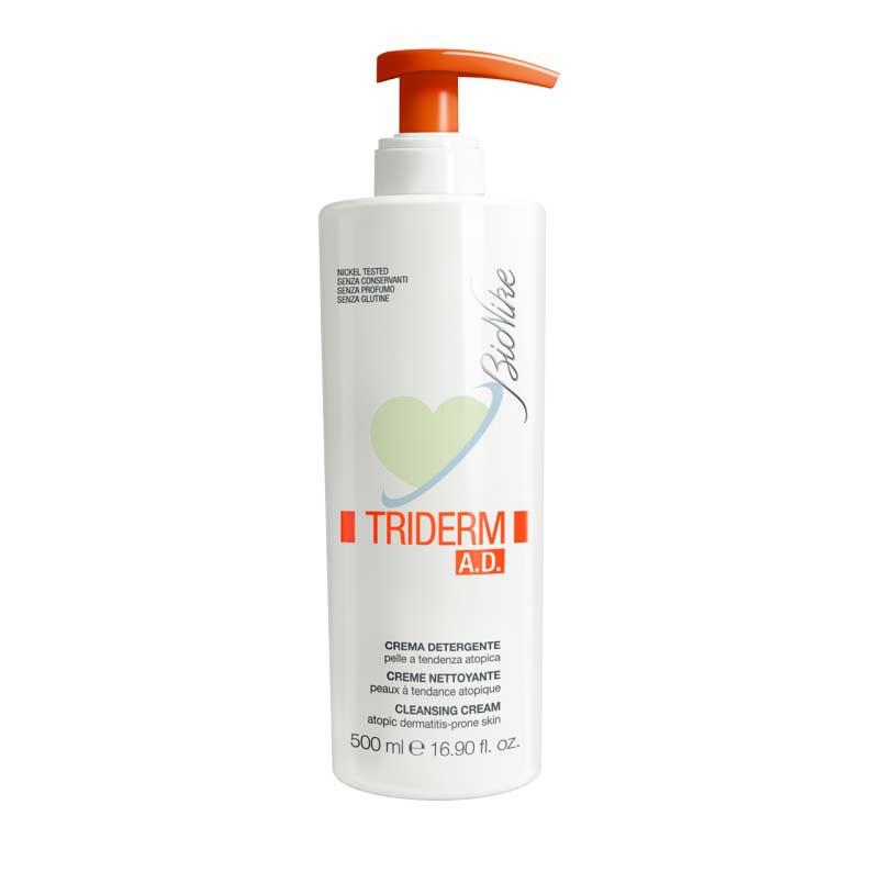 BioNike Linea Triderm Pelli Sensibili AD Crema Detergente Delicata Corpo 500 ml