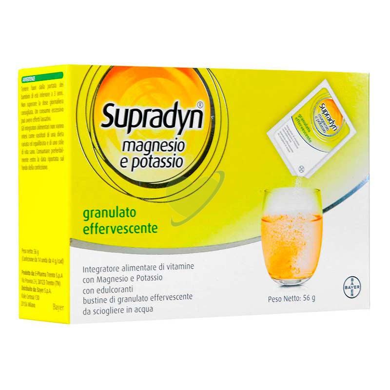 Supradyn Linea Vitamine Minerali Magnesio Potassio Integratore Granulato 24Buste