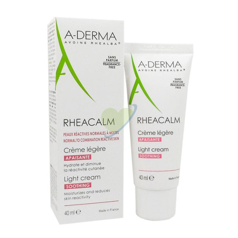 A-Derma Linea Rheacalm Crema Lenitiva Leggera Pelli Sensibili Reattive 40 ml